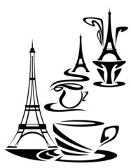 french coffee time design