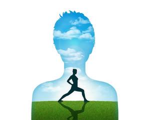 woman practicitng yoga