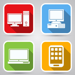 Computer vector icons