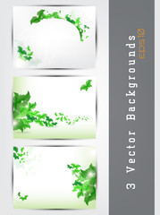 Green background set