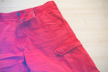 Bermuda, shorts, vintage effect