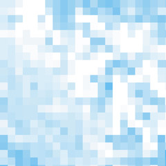 Blue abstrack mosaic background, vector