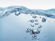 canvas print picture - Aufsteigende Wasserblasen