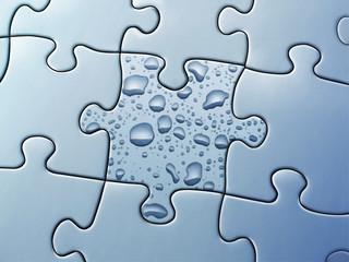 Puzzle mit Wassertropfen
