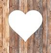 Holzwand Herz