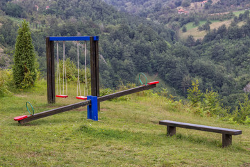 playground for children in nature, healthy place for children