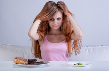 Girl has had enough diet
