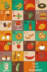 Food alphabet for children
