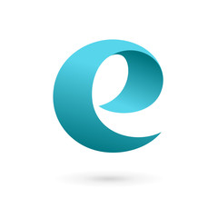 Letter E logo design template elements.