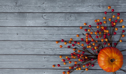 Autumn Pumpkin Thanksgiving Background