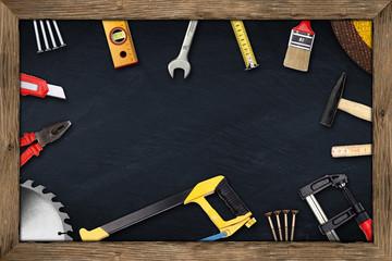 tools chalkboard