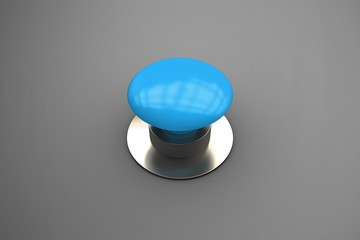 Composite image of blue push button