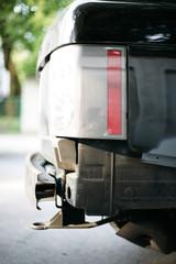 Beschädigte Auto Stoßstange
