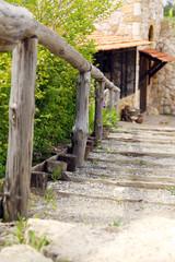 Stone trail , close-up