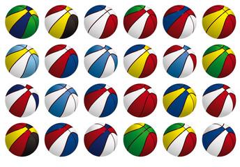 Balles basket-ball - Coupe du monde - 24 pays