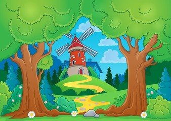 Tree theme with windmill 1
