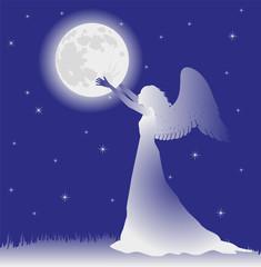 angelo che sistema la luna