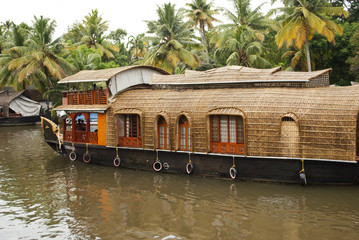 Houseboat in Backwaters, Kerala