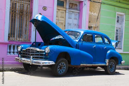 auto azul - 68208358