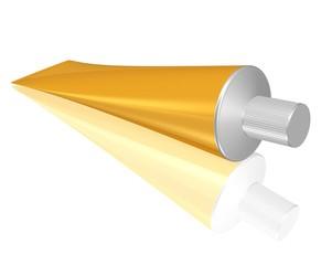 goldfarbene Tube