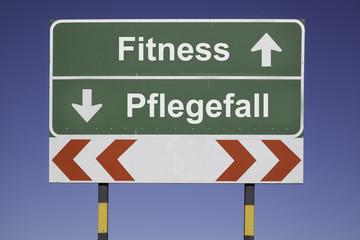 Fitness, Pflegefall