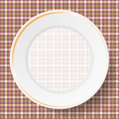Image dishes on a napkin