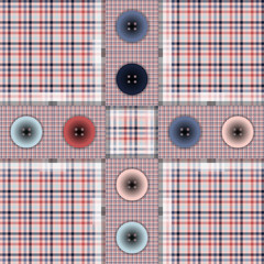 set of fabric with buttons