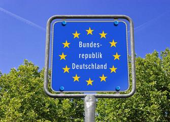 Grenzschild BRD