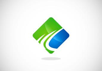 business finance abstract loop vector logo