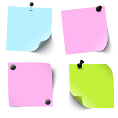 collection of colored sticky papers