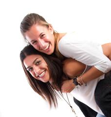Funny girls posing