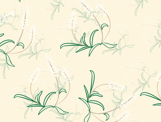 texture with abstract image of lily of the valley