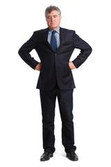 Arrogant man posing