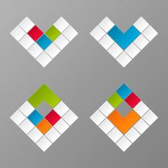 vector geometric colorful figures