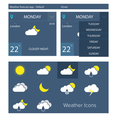 Flat weather forecast app