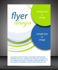 Business A4 booklet cover, flyer brochure design