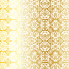 gold medallion pattern