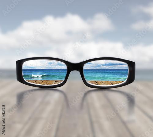 canvas print picture Blick durch die Brille