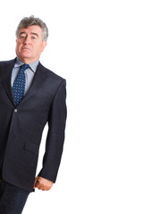 Superb businessman posing