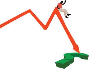 scivolone sulla caduta della domanda