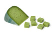 Green pesto cheese