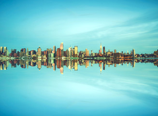new york city cityscape over hudson river pic
