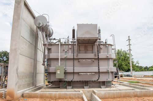 Poster Power transformer in sub station 115 kv/22 kv wait for wiring