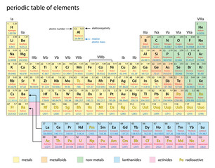 periodic table of elements  -  vector