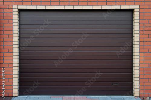 Brown garage gate. - 68215950