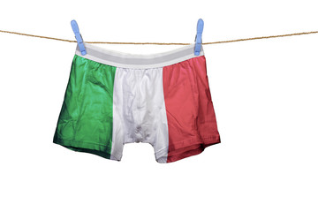 Underwear with the Italia flag on a string