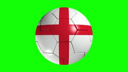 English flagged football.