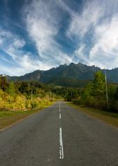 Road leading to Mt Kinabalu, Sabah, Malaysia, Borneo