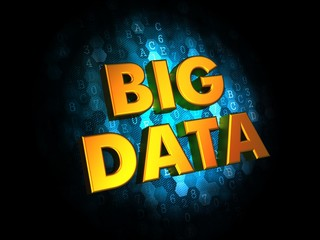 Big Data on Digital Background.