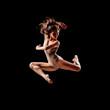 jumping ballerina